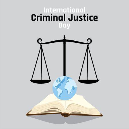 vector illustration of international criminal justice day poster or banner design Vektorové ilustrace