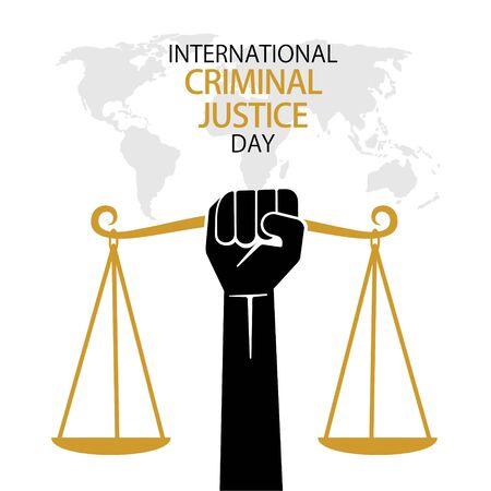 vector illustration of international criminal justice day poster or banner design