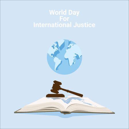 vector illustration of world day for international justice poster design Vektorové ilustrace
