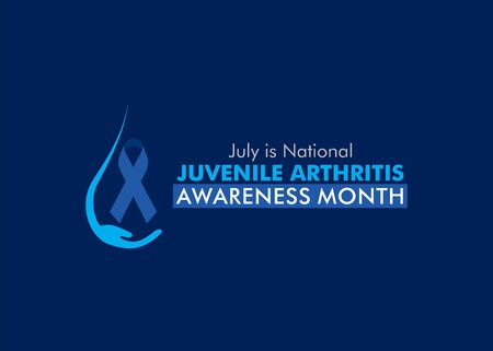 vector illustration of juvenile arthritis awareness month celebrate in july every year concept poster design