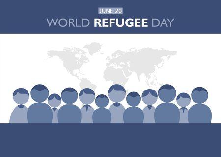 vector illustration of world refugee day concept poster design