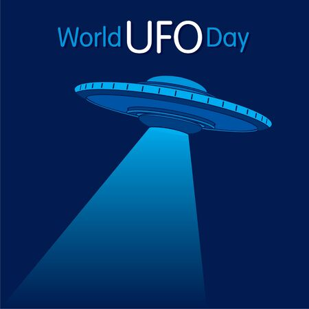 vector illustration of world UFO day poster or banner design Ilustração