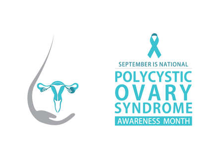 vector illustration of Polycystic Ovary Syndrome Awareness Month poster design.