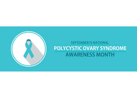 vector illustration of Polycystic Ovary Syndrome Awareness Month poster design. Vector Illustration