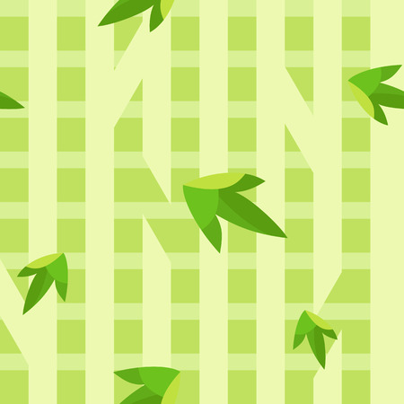 Simple flat pattern of simple stripes resembling bamboo tree, intended to represent green color of summer and spring.