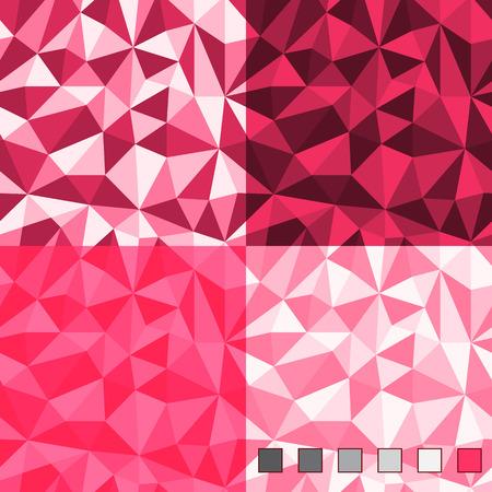 シームレスな抽象的なポリゴン背景パターン。メインカラーは透明性三角形層プラス。