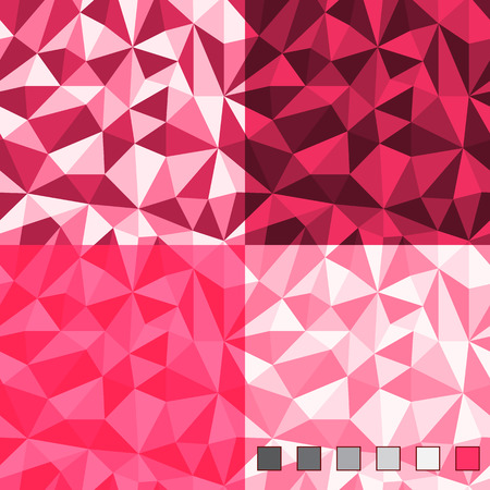 Seamless abstract polygonal background patterns. Main color plus transparency  triangle shaped layer.
