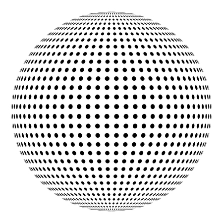 sphere: Dotted sphere, ball design element. Vector abstract background. Illustration