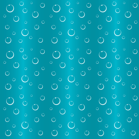 Bubbles in water over blue background, wallpaper.