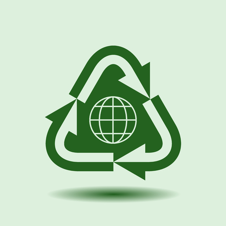 shinning: Recycle Symbol, Isolated design element , background for ecology, go green, Earth day template.