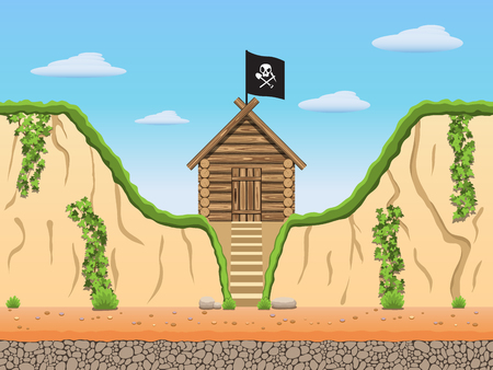 Diggers black archaeologist tomb raiders game background.