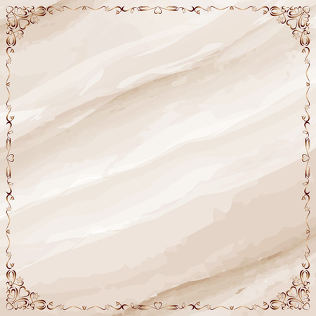 Marble background with ornate frame border.