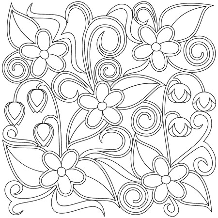 floral coloring page royalty free cliparts vectors and stock