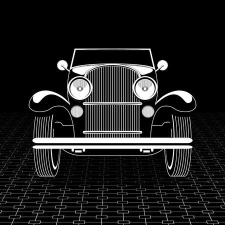Retro car poster template. Illusztráció