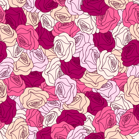 Floral background with roses.