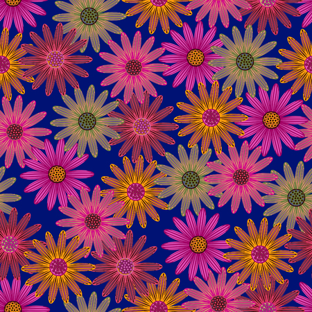 Seamless floral background with flowers.