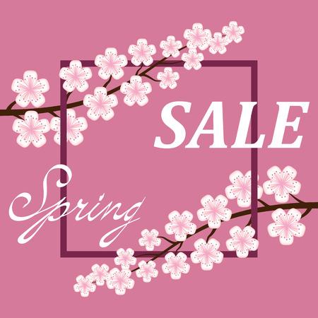 Spring sale poster Background .