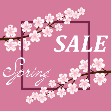 Spring sale poster Background .