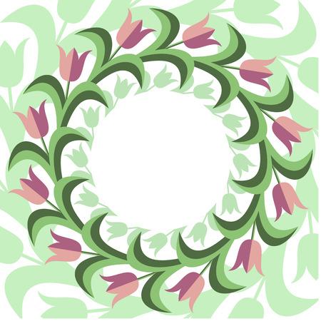 Flat stile floral background.