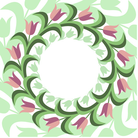 Flat stile floral background.