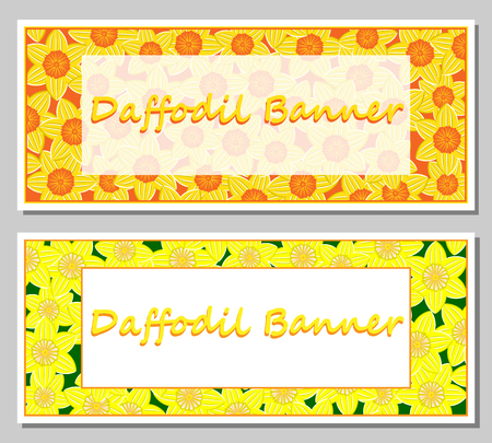 Daffodil banner template.