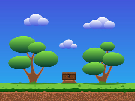Seamless smooth cartoon game background. Illustration
