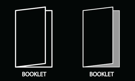 design template of an Open Book in Line Art style. Fit for education, publisher, printing, etc.