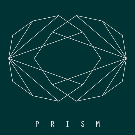 Illustration  of glaring prism or diamonds in simple Line Art style, perfect for jewelry, boutique, luxurious thing, premium place, fashion and beauty, etc. 일러스트