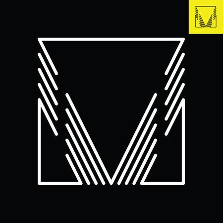 Letter V logo design in abstract line art style. Monogram vector logo in Eps 8.