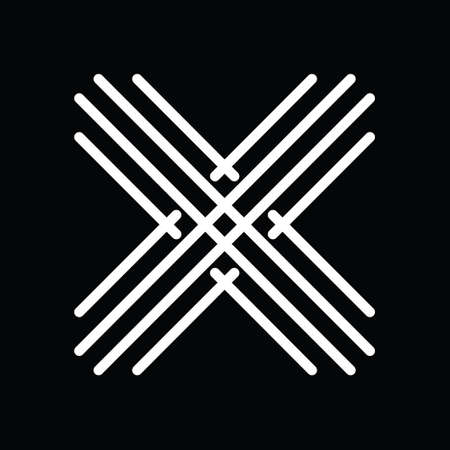 Letter x logo design in abstract line art.