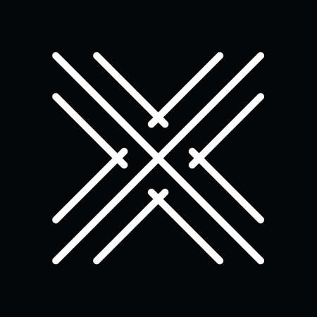Letter x logo design in abstract line art. Logos