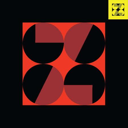 Letter Z monogram logo design in Bauhaus art style.