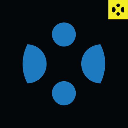 Letter X monogram round logo design in sphere art style. Circle vector logo Logos