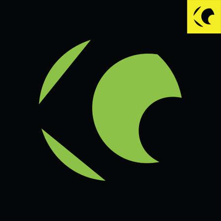 Letter G monogram round logo design in sphere art style. Circle vector logo