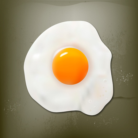 fried egg: Fried egg on the beton surface