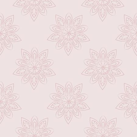 florish: Florish background in pastel tones. Vector seamless pattern