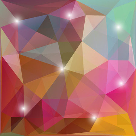 Abstract Triangle Geometrical Multicolored Background, Vector Illustration