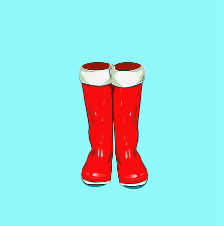 Vector illustration with red boots Ilustrace