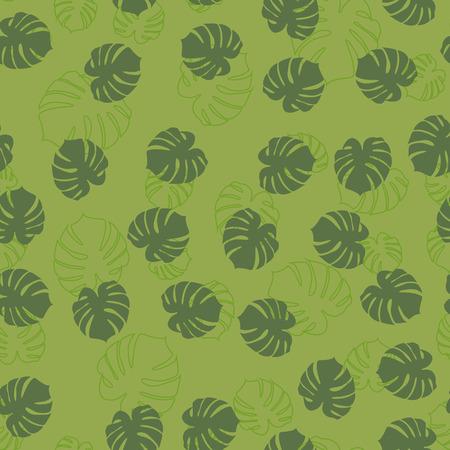 Pattern of leaves monstera