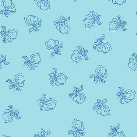 Pattern with magnolia Ilustrace