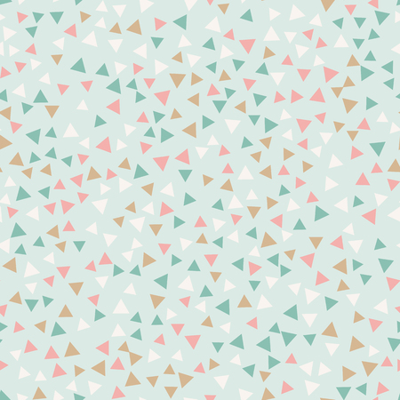 Geometric seamless pattern. Triangles on the blue background.