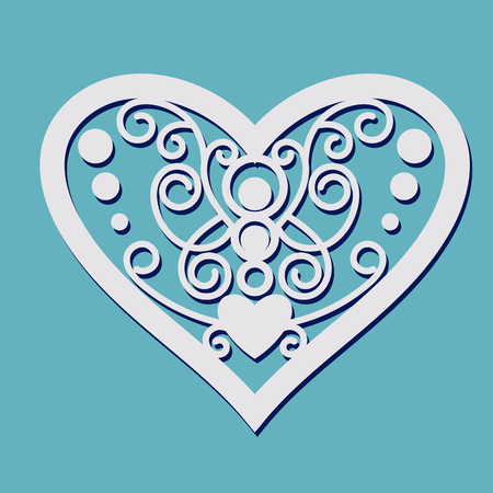 plotter: Lace Heart shape