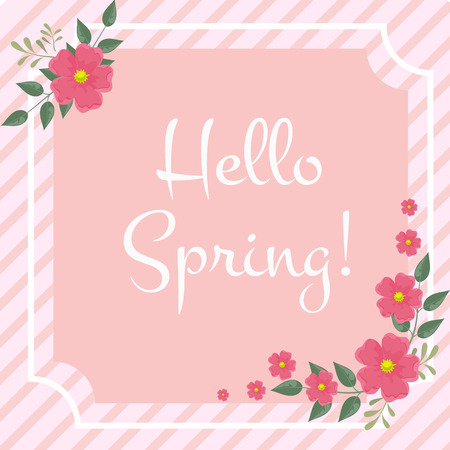 spring greeting card template vector illustration