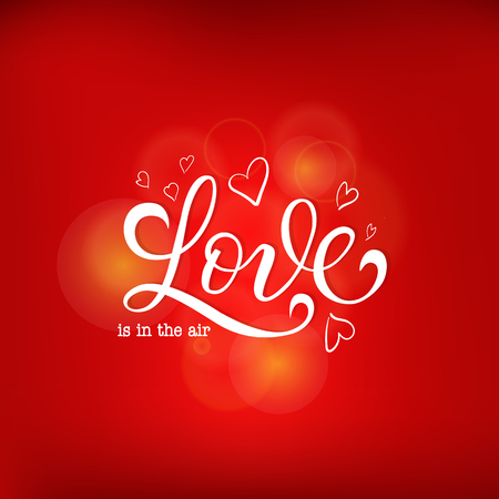 Valentine s Day Love and Feelings Background Design. Vector illustration EPS10 Ilustrace