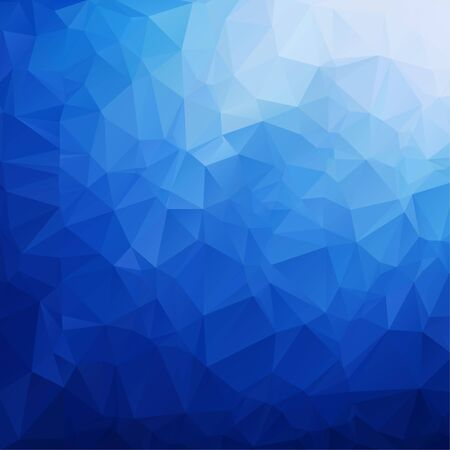 Blue polygon backgroundAbstract Blue triangle geometrical background.