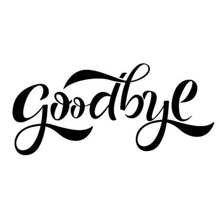Goodbye lettering banner Illustration