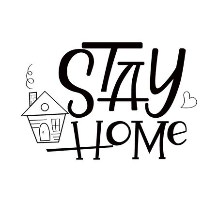 stay home written in typography poster design Save planet from corona virus.