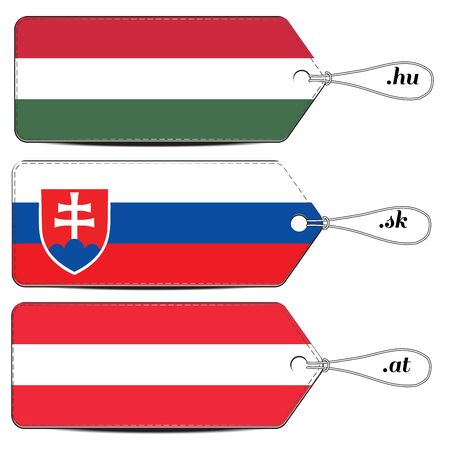 Lable made in Hungary Slovakia and Austria in flag design 일러스트