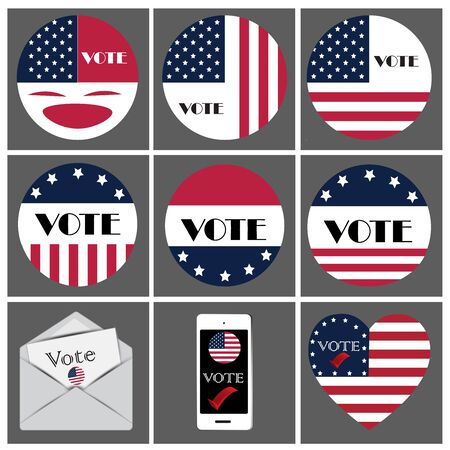 Logo and icon vote for presidentail of USA