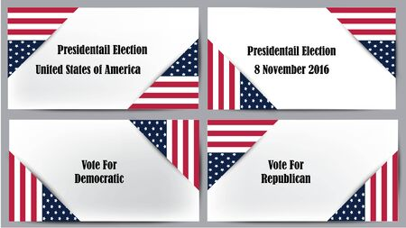 Presidential election United State of America Illustration